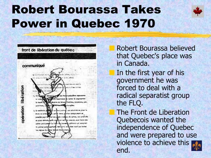 Robert Bourassa Takes Power in Quebec 1970