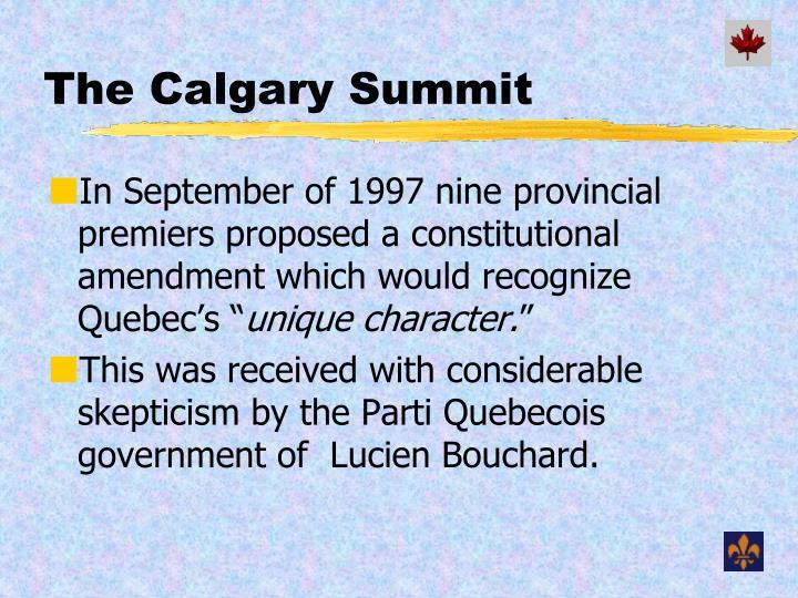The Calgary Summit