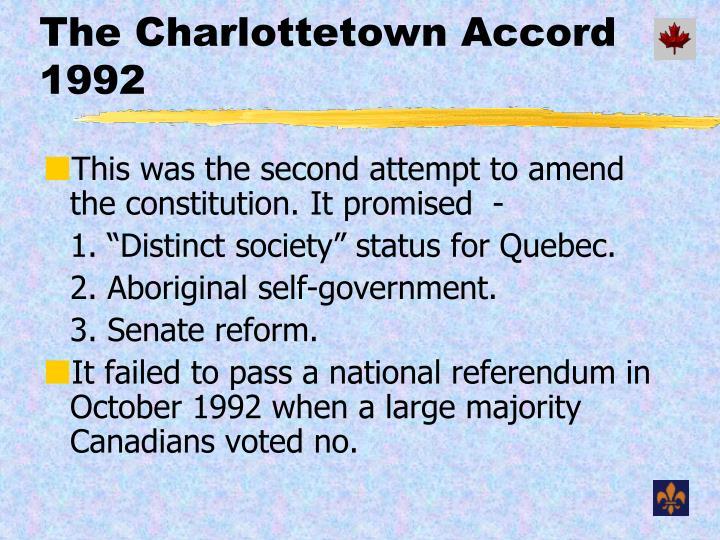 The Charlottetown Accord 1992