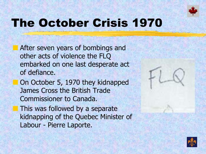 The October Crisis 1970
