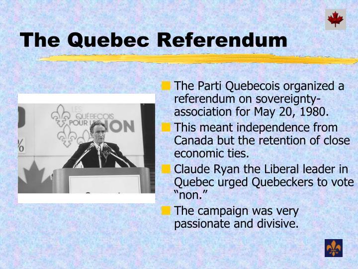 The Quebec Referendum