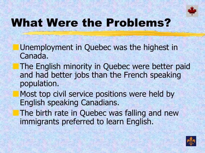 What Were the Problems?