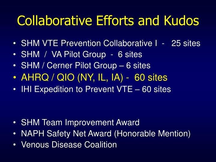 Collaborative Efforts and Kudos