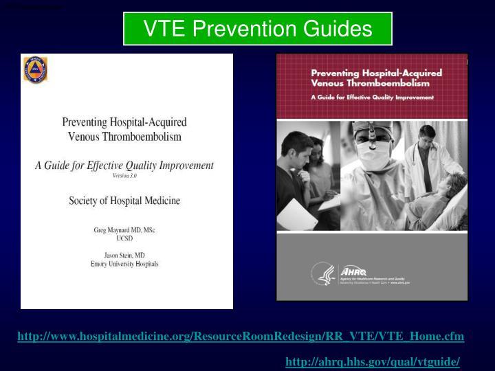 VTE Prevention Guides
