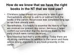 how do we know that we have the right books in the nt that we now use2
