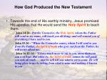 how god produced the new testament1