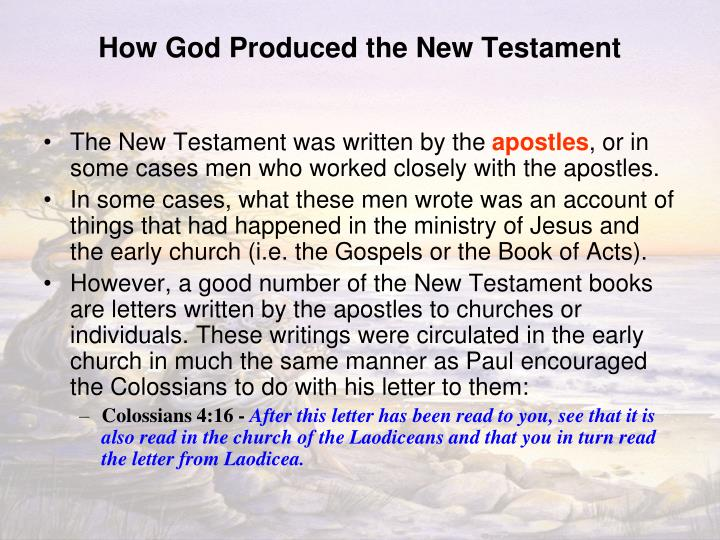 How God Produced the New Testament