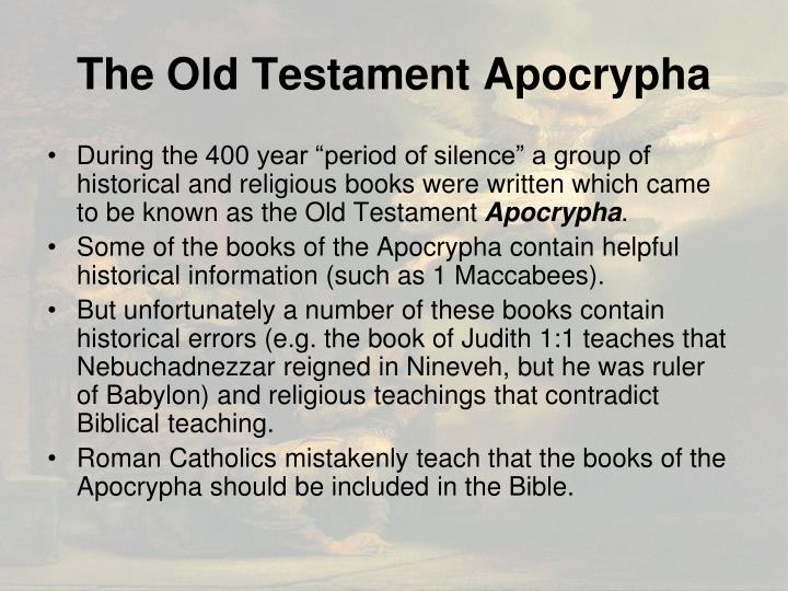 The Old Testament Apocrypha