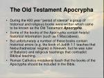 the old testament apocrypha1