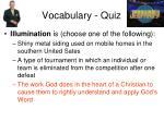 vocabulary quiz13