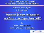 tenth african oil gas trade and finance conference