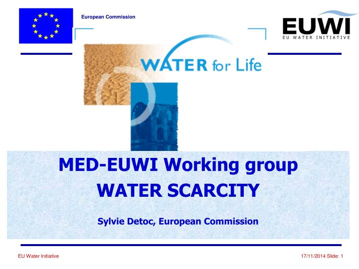 Med euwi working group water scarcity sylvie detoc european commission