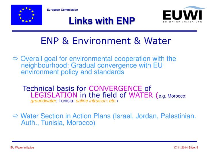 Links with ENP
