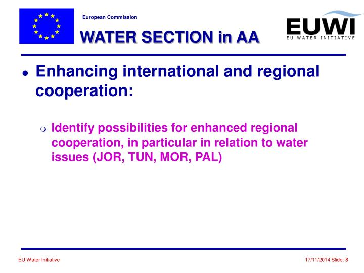 WATER SECTION in AA