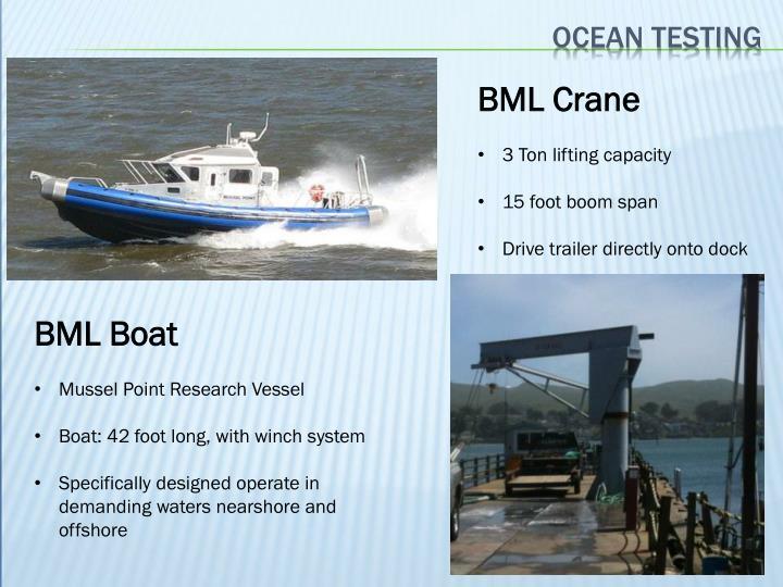 Ocean testing