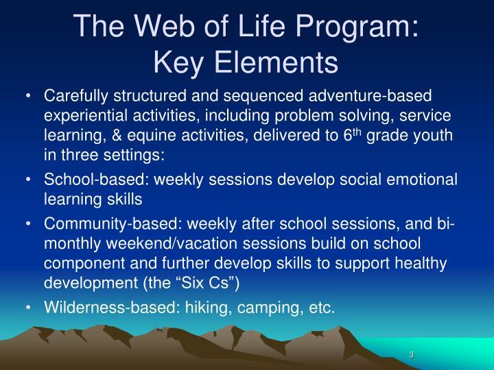The Web of Life Program: