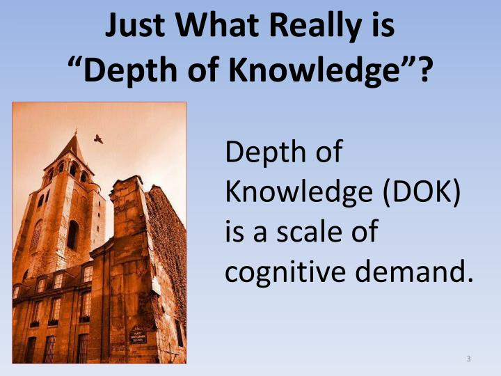 """Just What Really is                    """"Depth of Knowledge""""?"""