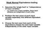 weak normal equivalence testing