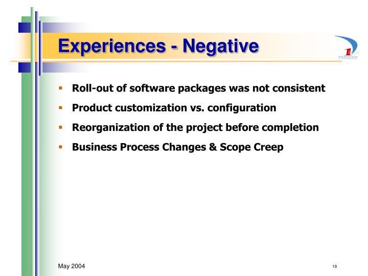 Experiences - Negative