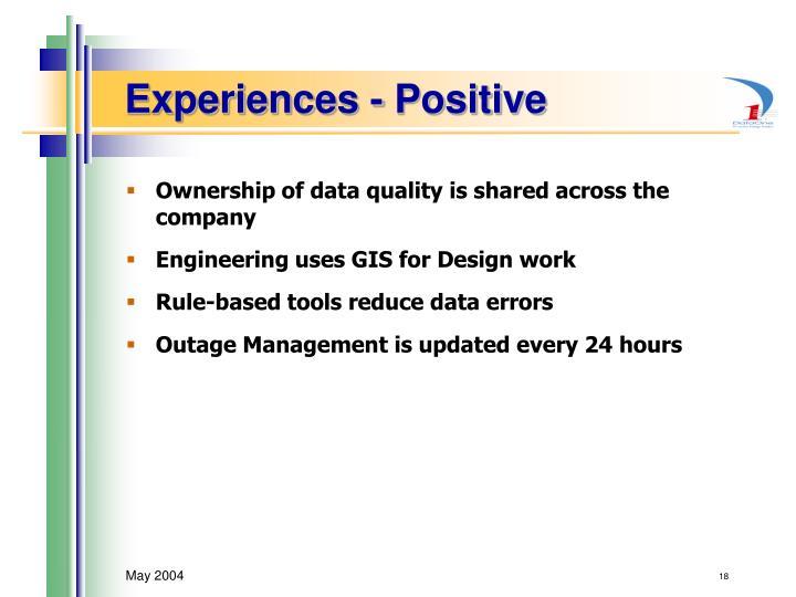 Experiences - Positive