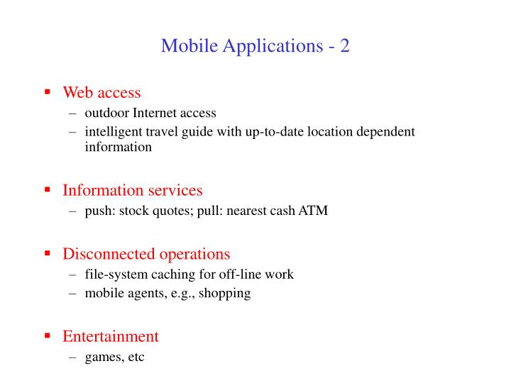 Mobile Applications - 2