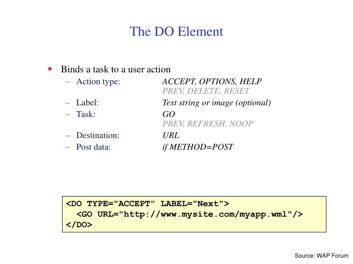 The DO Element