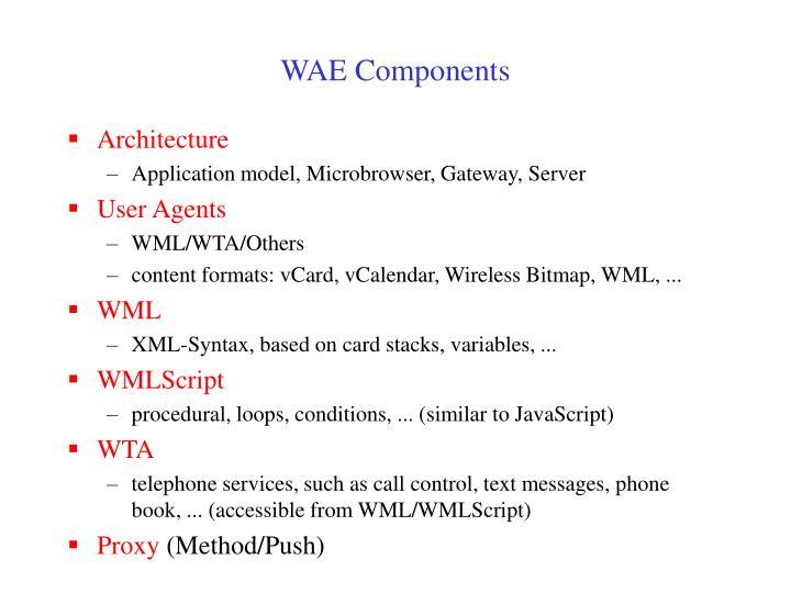WAE Components