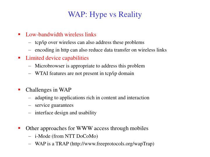 WAP: Hype vs Reality