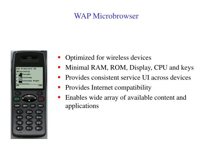 WAP Microbrowser