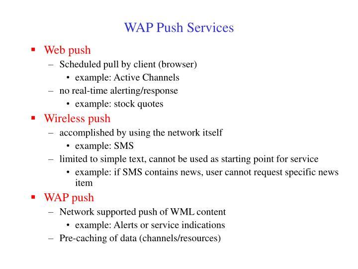 WAP Push Services