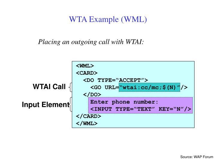 WTAI Call