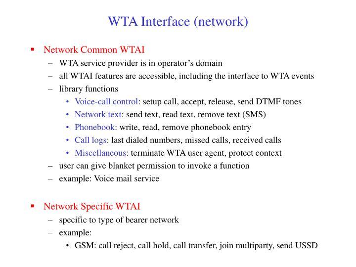 WTA Interface (network)