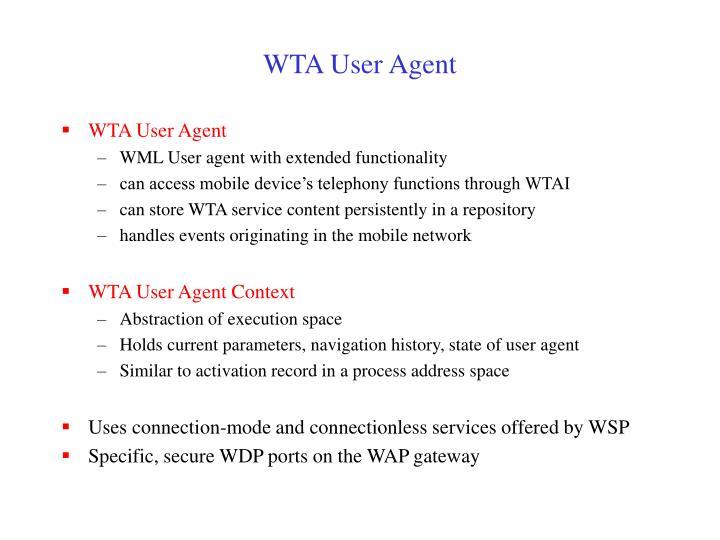 WTA User Agent