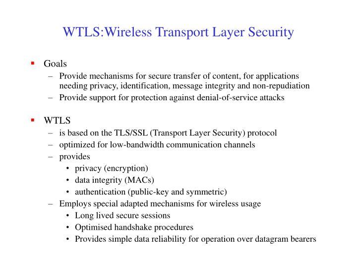 WTLS:Wireless Transport Layer Security