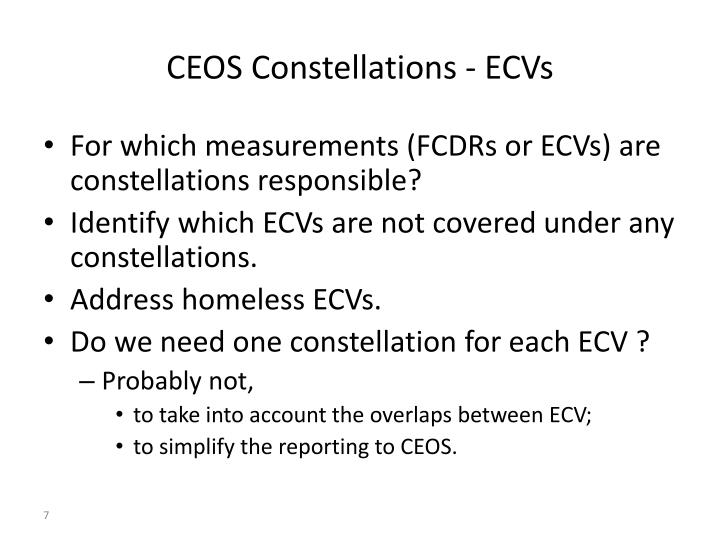 CEOS Constellations - ECVs