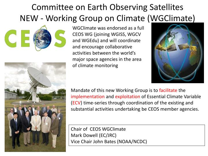 Committee on Earth Observing Satellites