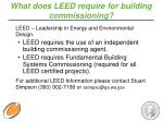 what does leed require for building commissioning
