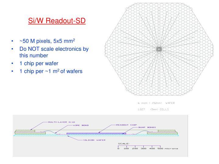 Si/W Readout-SD