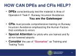 how can dpes and cfis help