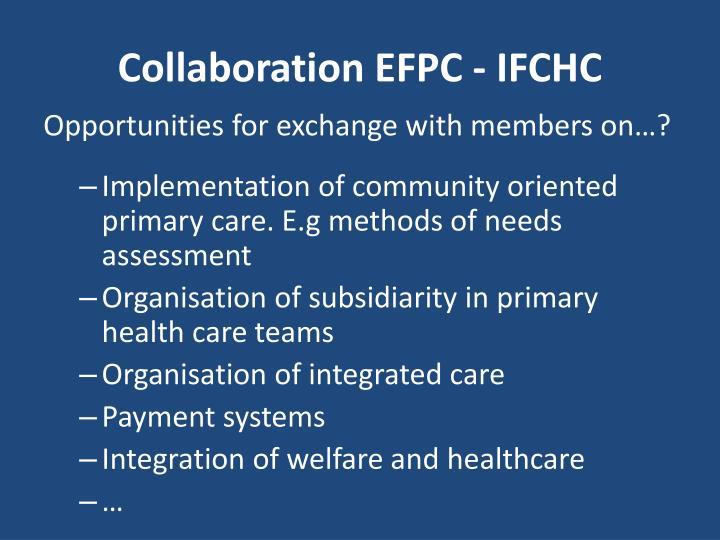 Collaboration EFPC - IFCHC