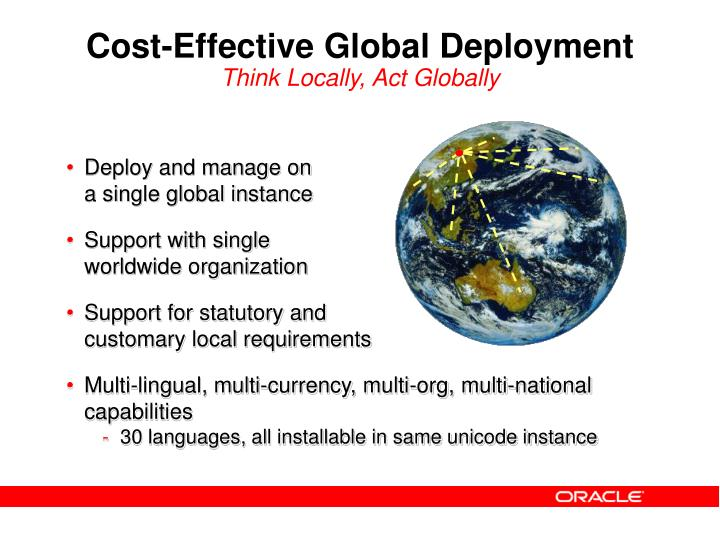 Cost-Effective Global Deployment