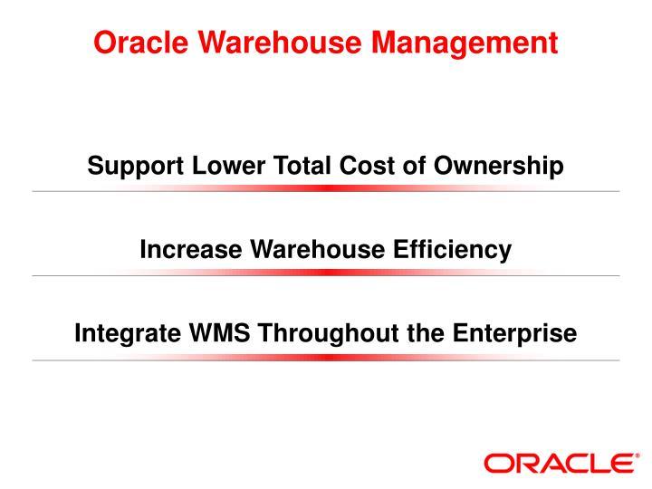 Oracle Warehouse Management