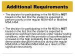 additional requirements4