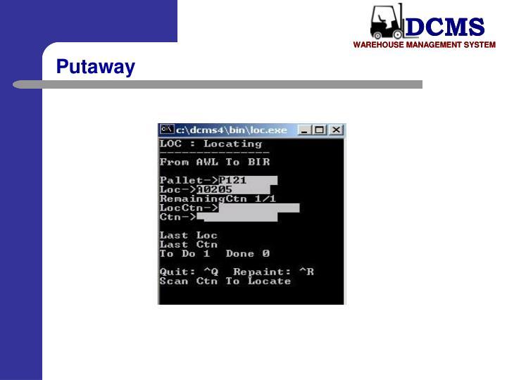 Putaway