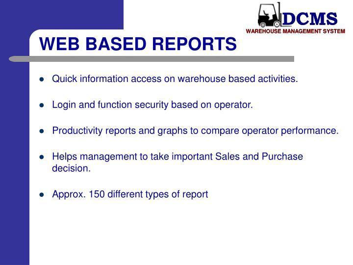 WEB BASED REPORTS