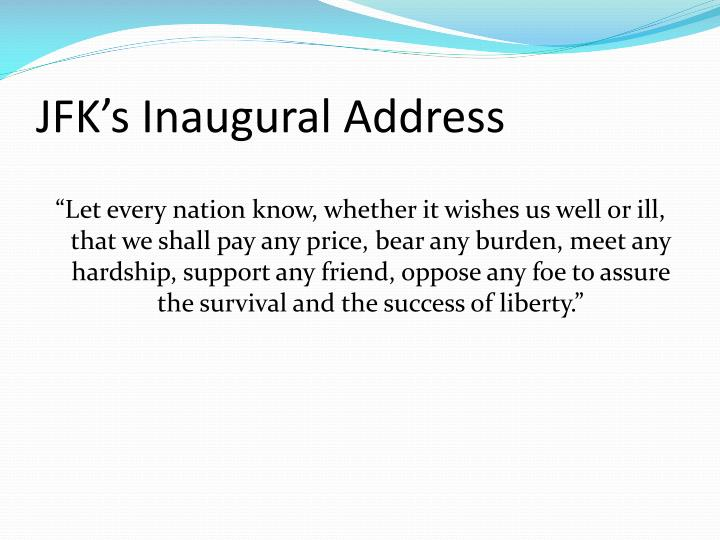"inaugural speech essay The ""inaugural address,"" by president lyndon baines johnson and the ""inaugural address,"" by president barack obama both utilize persuasive rhetorical purpose supported by nariation and evaluation in an effort to unify the people of america under a new president's promise of leadership and change."