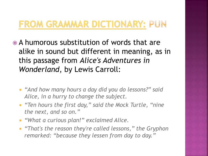 From Grammar Dictionary: