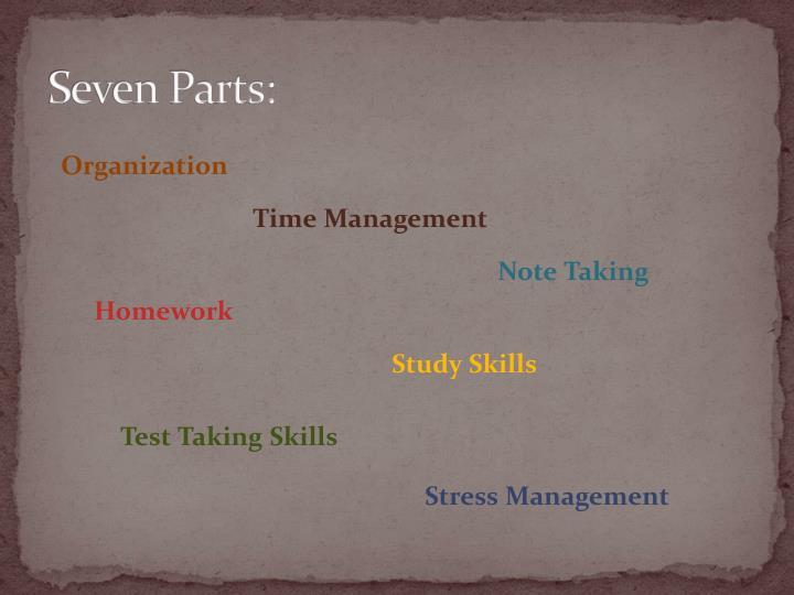 Seven Parts: