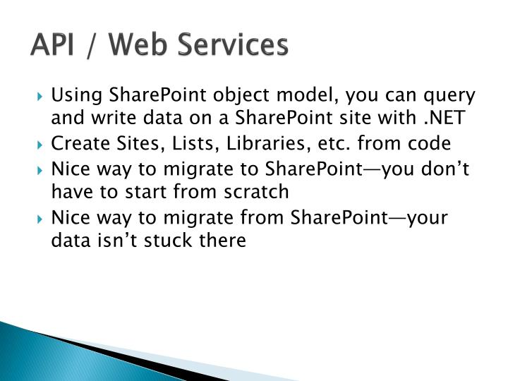 API / Web Services