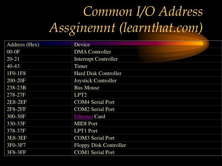 Address (Hex)